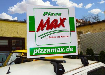 Altay-Werbung Pizza Max