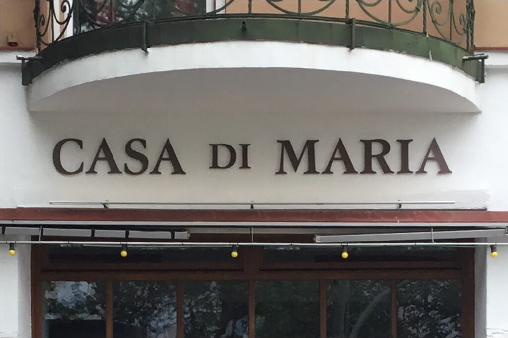 Altay Werbung_Buchstaben_Metall_Casa Di Maria