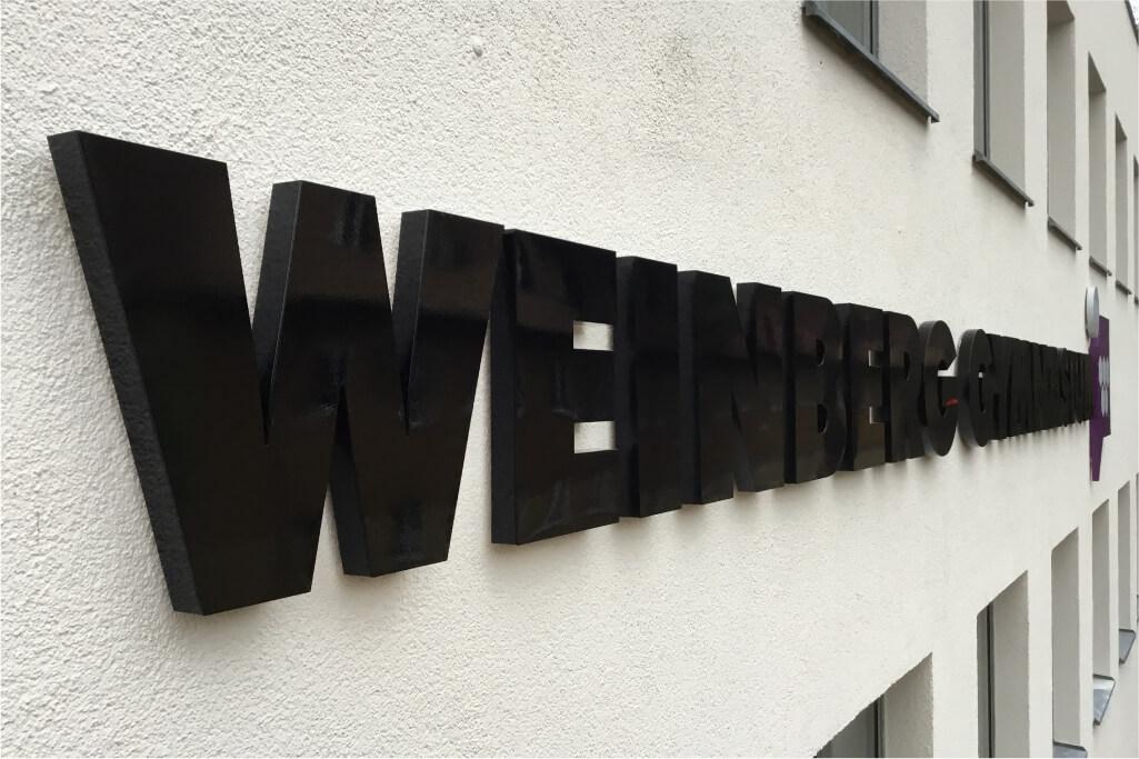 Altay Werbung_LED-Buchstaben_Profil 01_Weinberg Gymnasium
