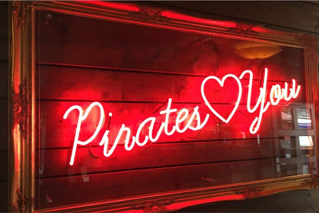 Altay Werbung_Neon_Schutzscheibe_Pirates